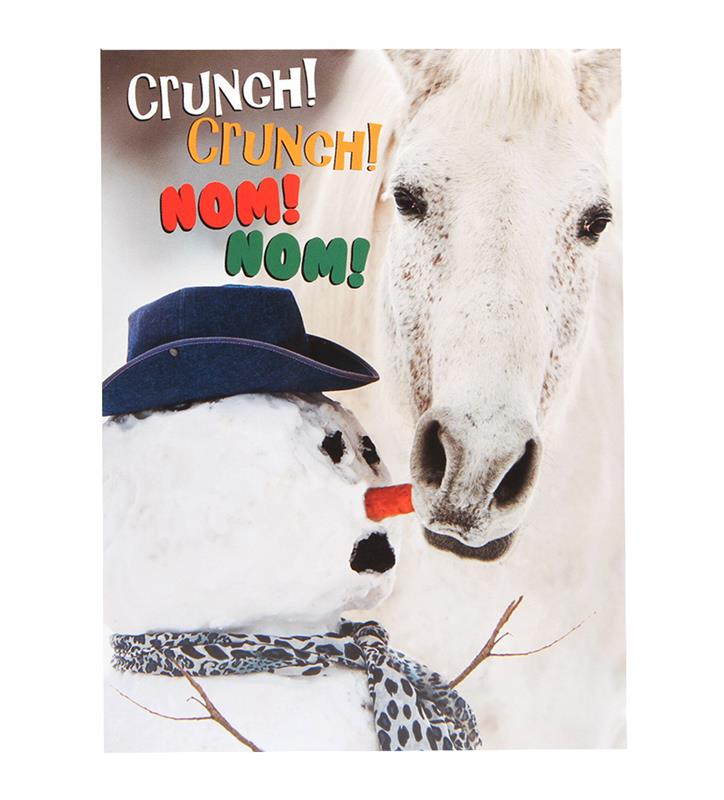 Crunch Crunch, Nom Nom Christmas Card Set,BX CRUNCH
