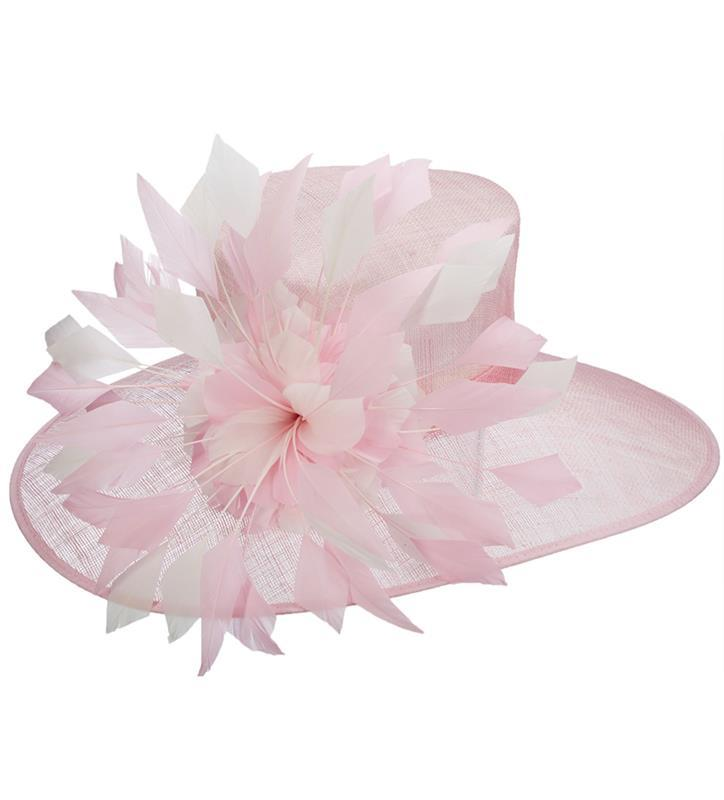The Delilah Sinamay Hat,LD95-ASST ROSE