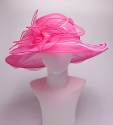 The Big Brim Organza Florette Hat
