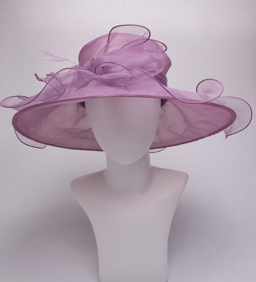The Annabelle Organza Hat,LD100-ASST LAVENDER
