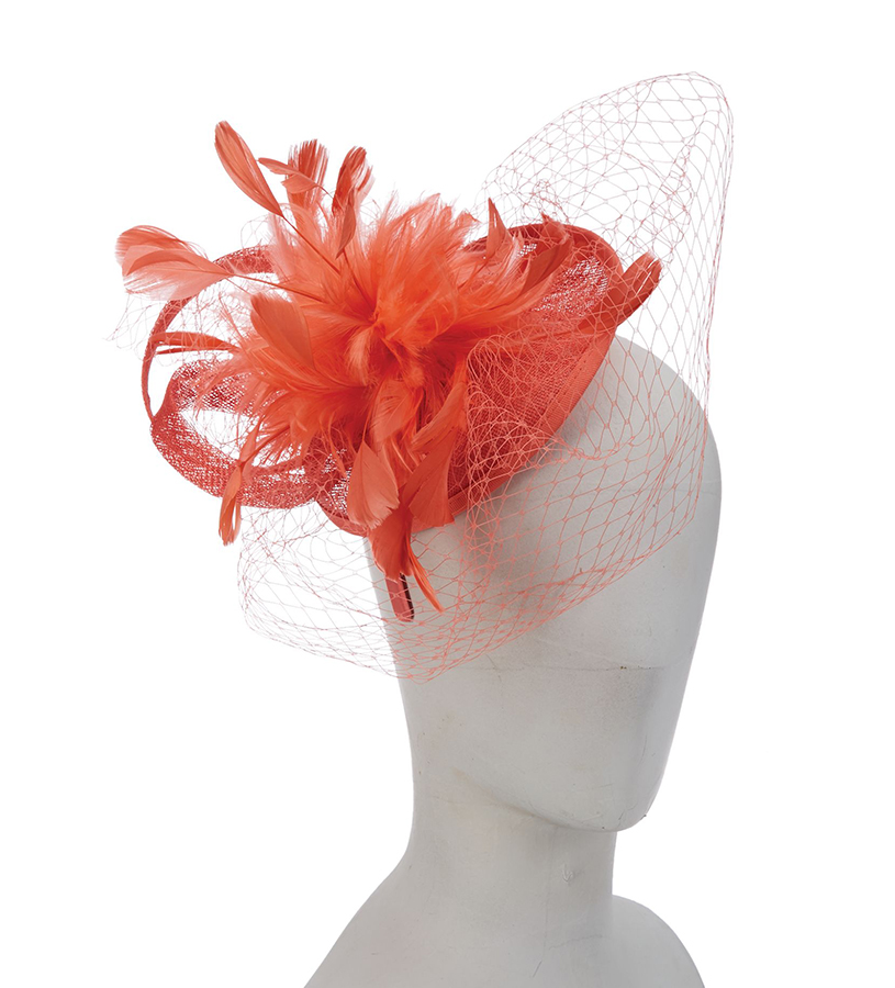 The Magnolia Fascinator,LDF55-ASST CORAL