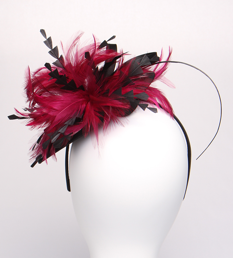 The Melenie Fascinator,LDF57-ASST MAGENTA