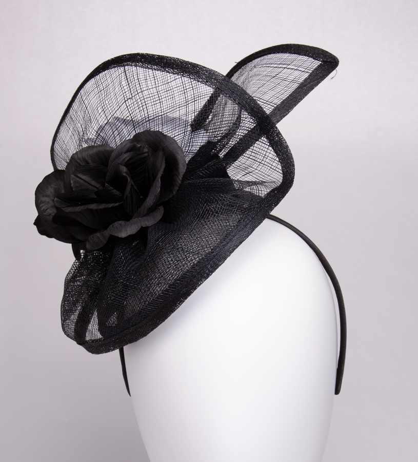 The Spiral Fascinator,KD105DERBYF-BLACK