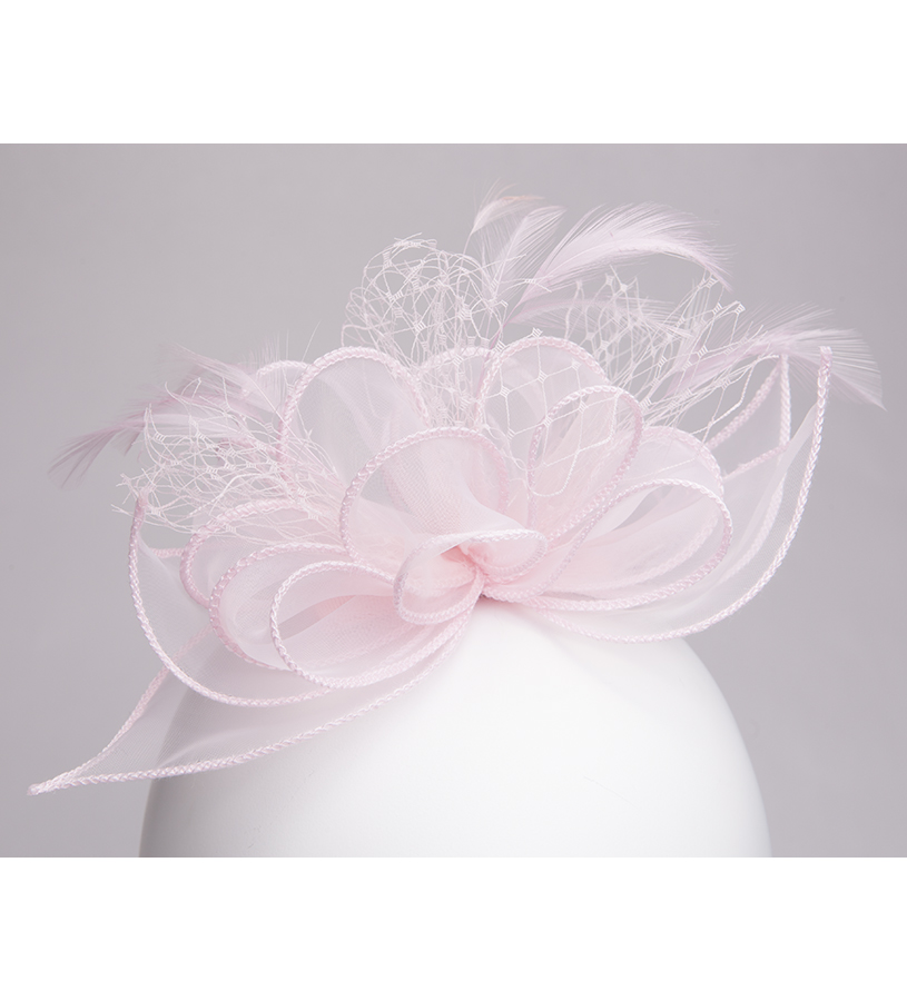 The Organza Netting Fascinator Clip,KD110DERBYF-PALE PIN