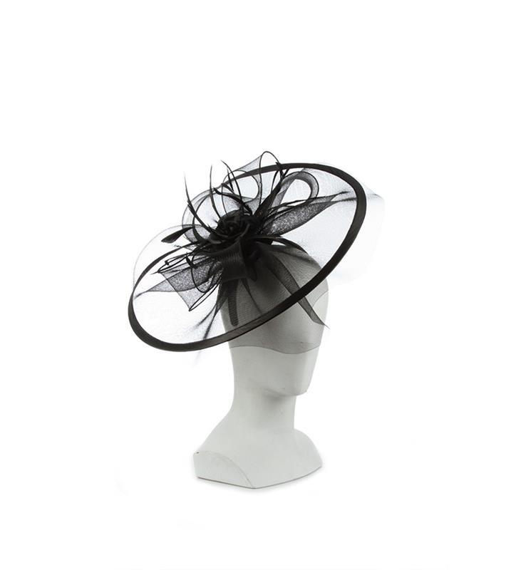 The Polyanna Fascinator,KD112DERBYF-BLACK