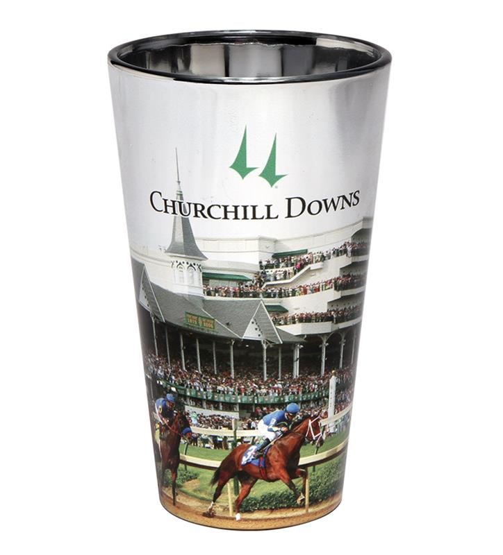 Churchill Downs Elektra Pint Glass,GLS328 FIRST TURN