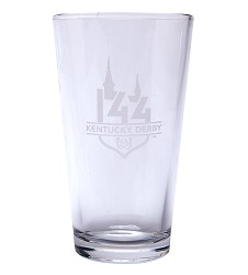 Kentucky Derby 144 Etched Ale Glass