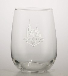 Kentucky Derby 144 Etched Stemless Wine Glass