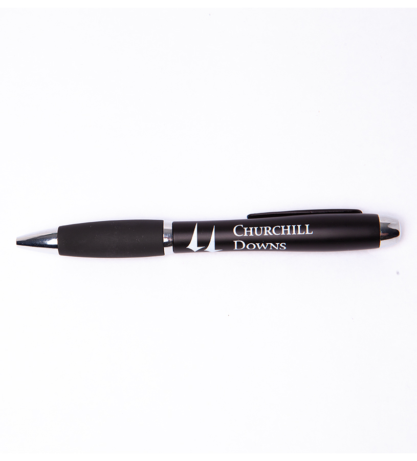 Churchill Downs Black DaVinci Pen,DAVINCIPEN BLACK