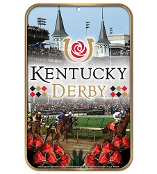 Kentucky Derby Decorative Plastic Sign