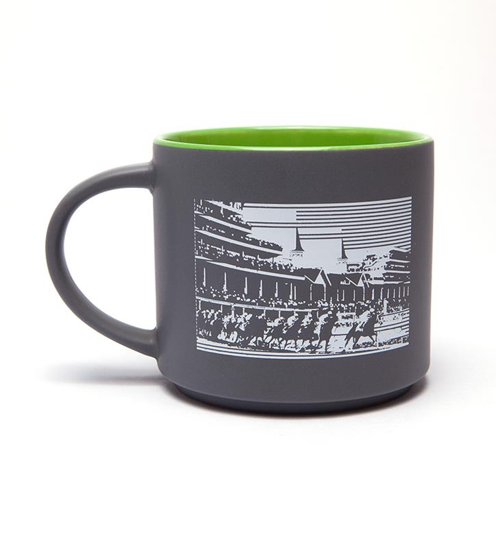 Churchill Downs Lines Mug,CD LINES LIME LINER