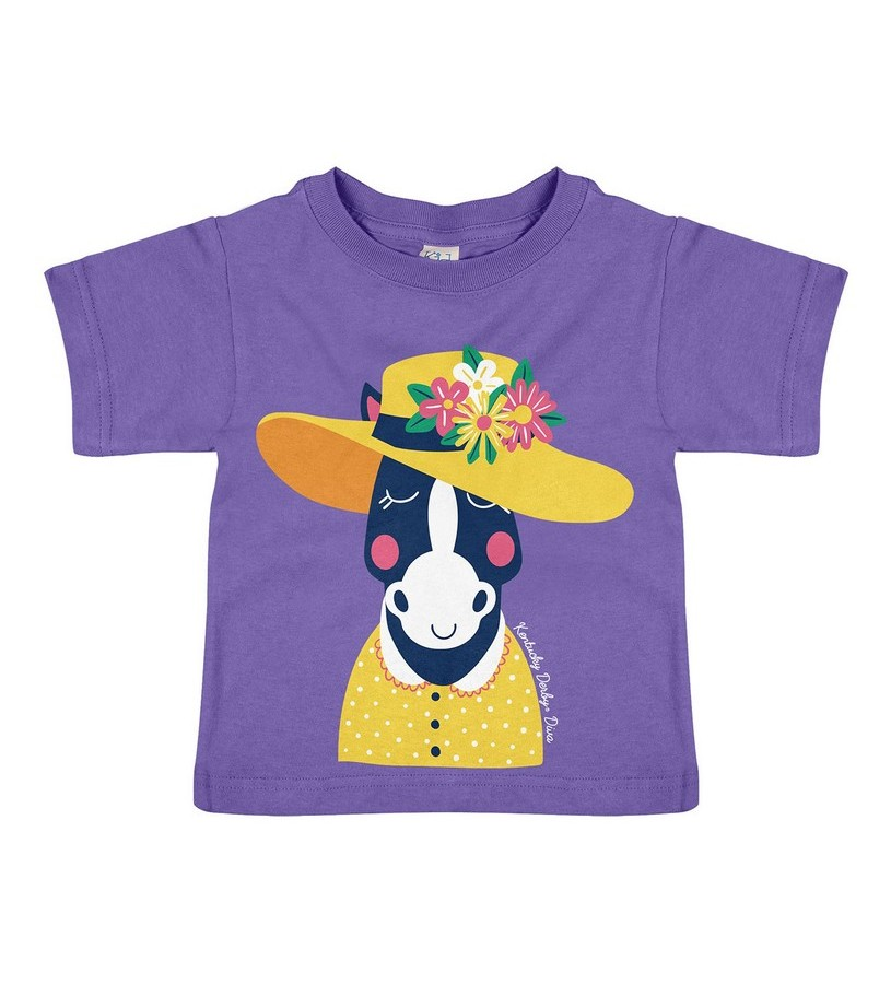 Derby Hat Horse Toddler Tee,#3972 DOT HORSE TODD