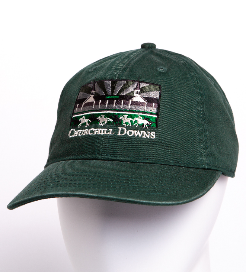 "Churchill Downs Tea Stained ""Patagonia"" Grandstand Cap,C47TSS PINE"
