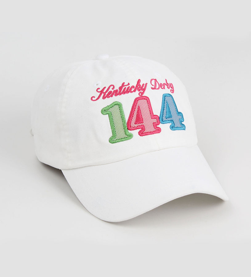 Kentucky Derby 144 Ladies Peached Twill Logo Cap,K45CA4 144AH78 WHITE