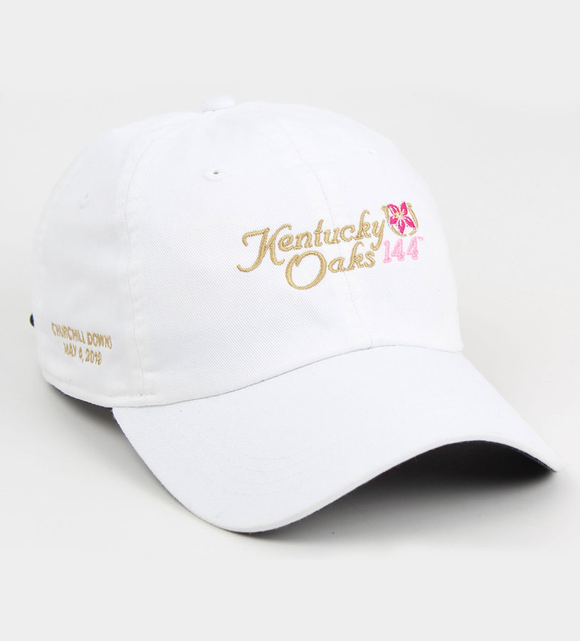 Kentucky Oaks 144 Extreme Solid Logo Cap,E47MT2 144AH93 WHITE
