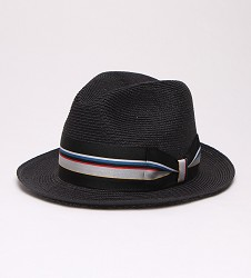 """Black Jacket"" Straw Fedora"
