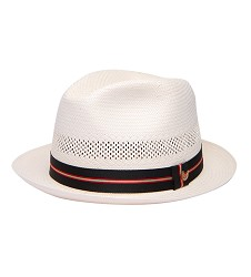 """""""Basic and Good Looking"""" Straw Fedora,BS 3047BAGL-IVORY"""