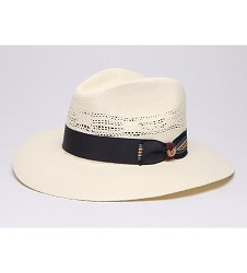 """Big Brim Coolness"" Vented Straw Fedora"