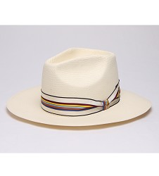 """""""Ready for the Season"""" Vented Straw Fedora,BS 4310RFS-IVORY"""