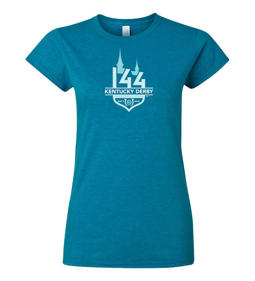 Ladies Kentucky Derby 144 Tonal Event Logo Tee,8KLTH 27742-2