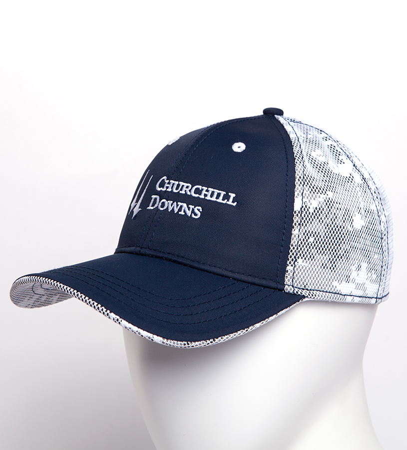 Churchill Downs Camoflage Mesh Back Cap,C16NTM 144AH99 NAVY
