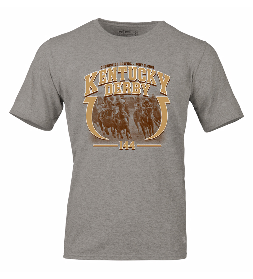 Kentucky Derby 144 Horseshoe Tee,64STTMO PL06