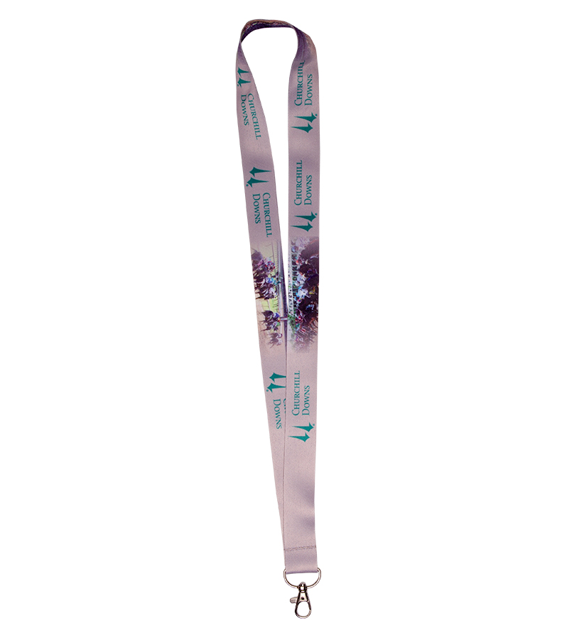 Churchill Downs Sublimated Lanyard,CD NO TICKET HOLDER