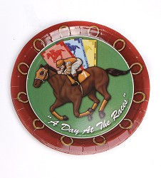 """A Day at the Races"" Party Plates,#86001 7"" 8PK PLATES"