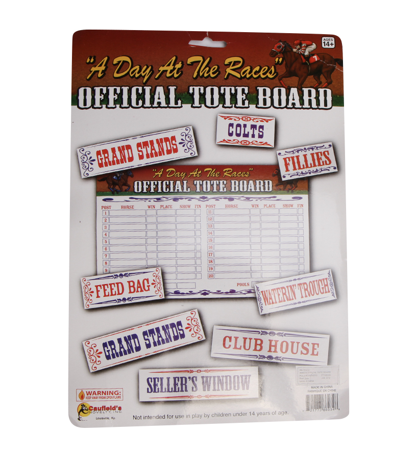 """Day at the Races"" Tote Board,#86034 TOTE BOARD"