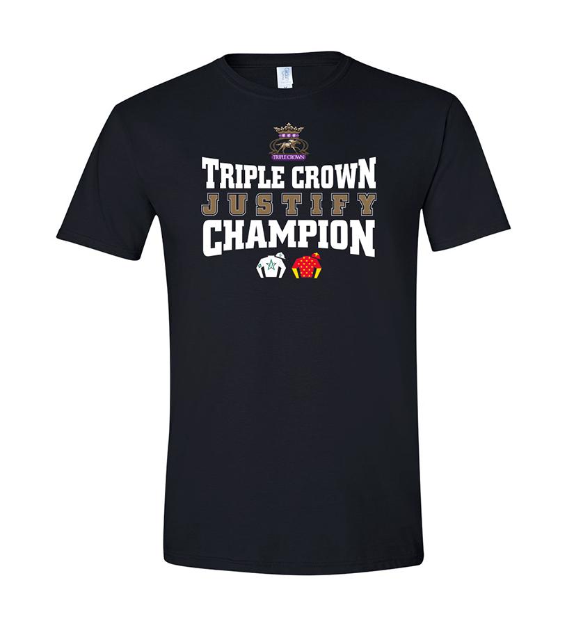 Justify Triple Crown Silks Tee,JZ2TSB