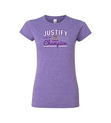 Justify Ladies' Triple Crown Script Tee