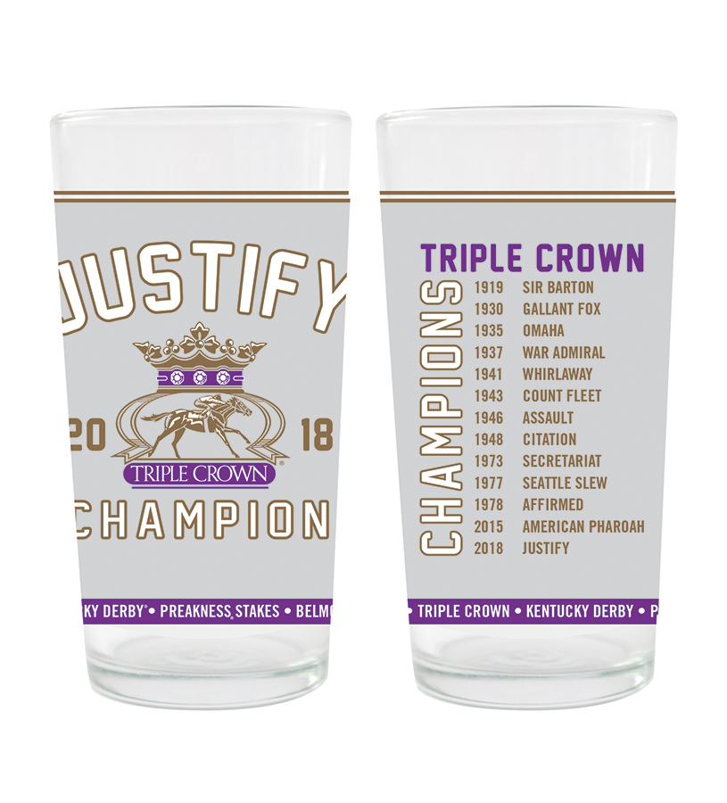 2018 Justify Triple Crown Glass,JZ2G