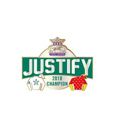 2018 Justify Triple Crown Banner Lapel Pin,JZ2P