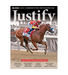 Justify Commemorative BloodHorse Triple Crown Issue