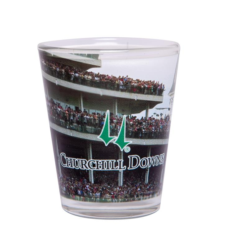 Churchill Downs Grandstand Shot Glass,INDIVIDUAL CD GRANDS