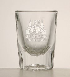 Kentucky Derby 145 Fluted Shot Glass