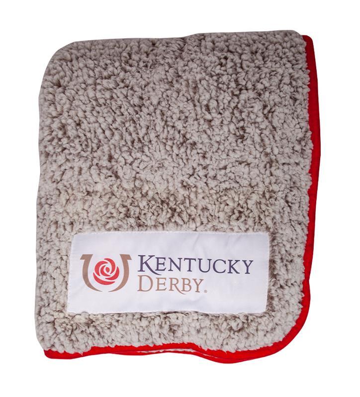 Kentucky Derby Icon Frosty Fleece Blanket,25FD KD ICON RED