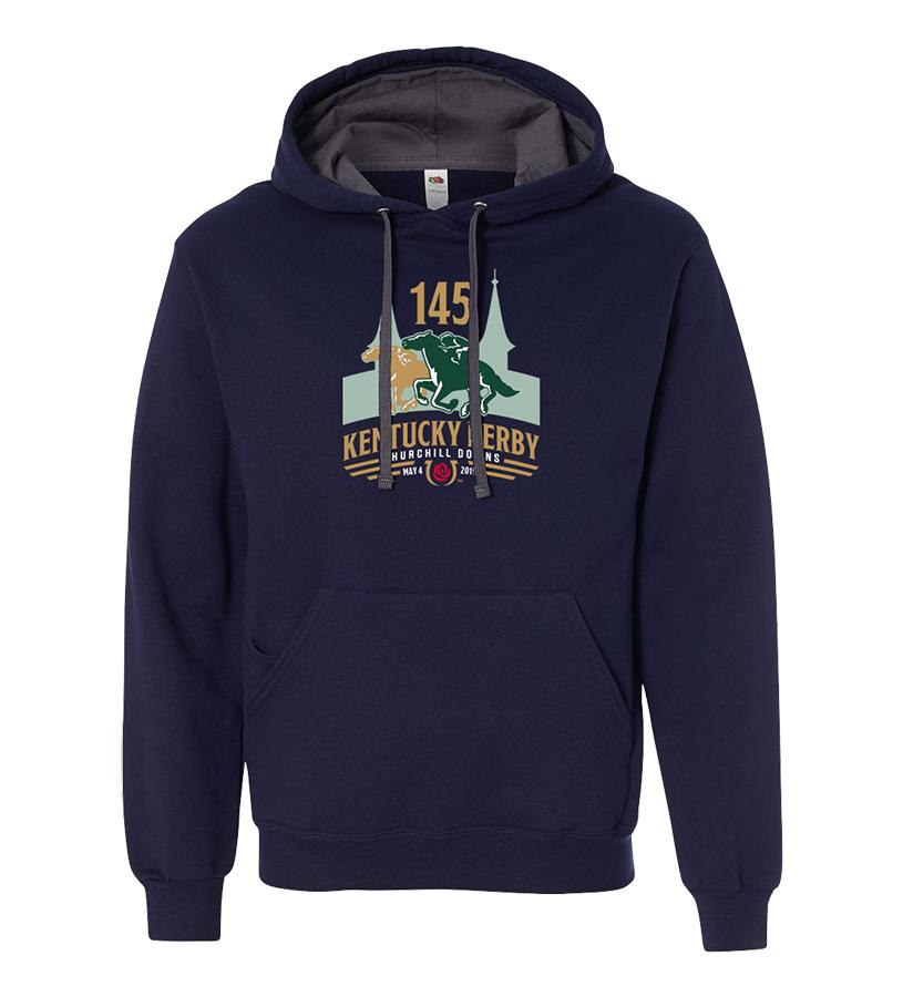 Kentucky Derby 145 Logo Hoodie,9KSHN NAVY