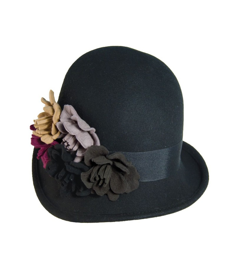 Ladies' Felt Bouquet Cloche,LF100-ASST