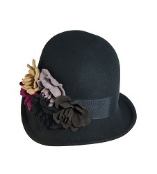 Ladies' Felt Bouquet Cloche