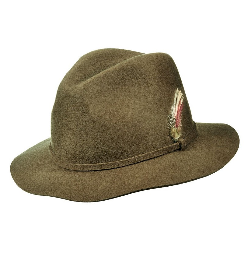 Ladies' Felt Feathered Safari Hat,LF184-ASST