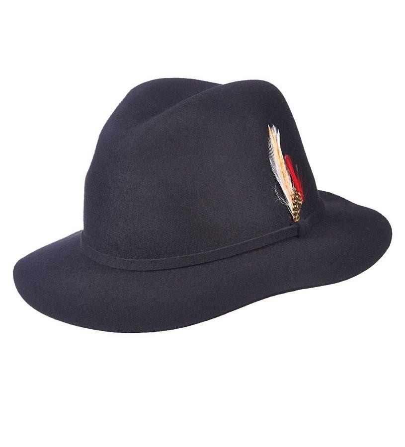 Ladies' Felt Feathered Safari Hat,LF184-ASST