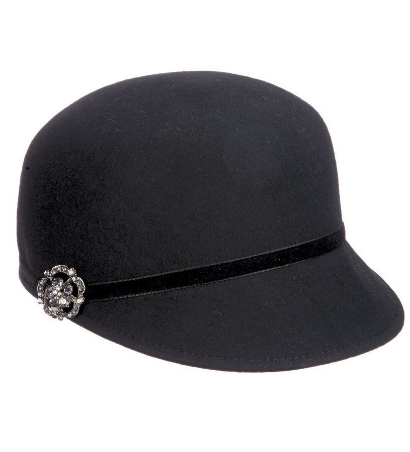 Ladies' Bedazzled Brooch Cap,LV410-ASST