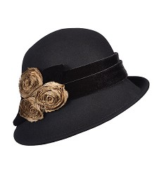Ladies' Classic Rosette Cloche
