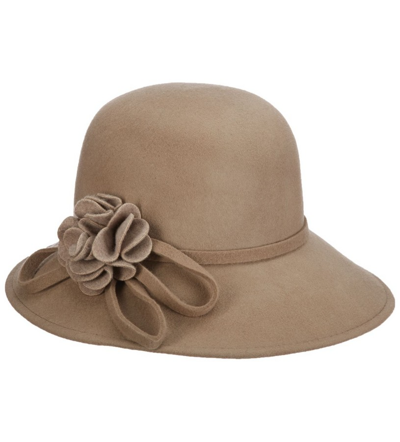 Ladies' Wide Brim Rosette Cloche,LF238-ASST
