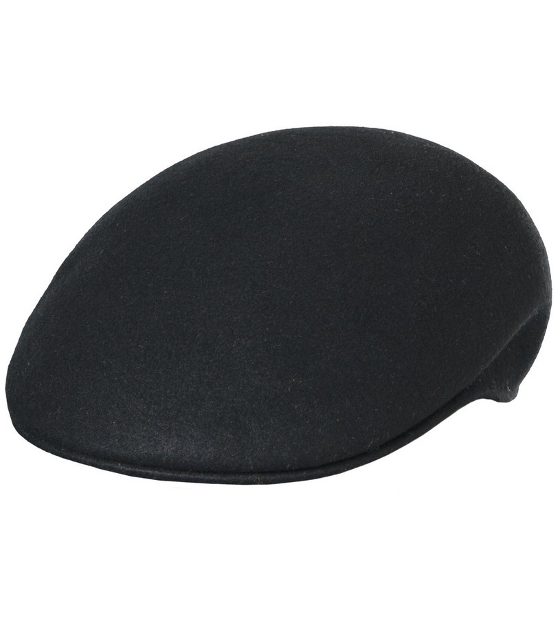 Men's Crushable Ascot Cap,DF5-BLACK