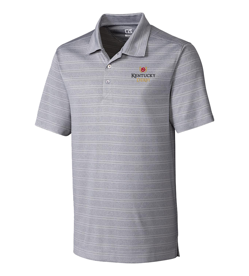Kentucky Derby Icon Interbay Polo,MCK09263-FOG HEATHER