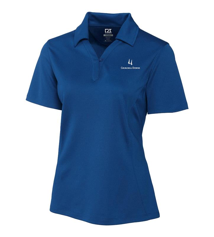 Ladies' Churchill Downs Logo Genre Polo,LCK02289-TOUR BLUE