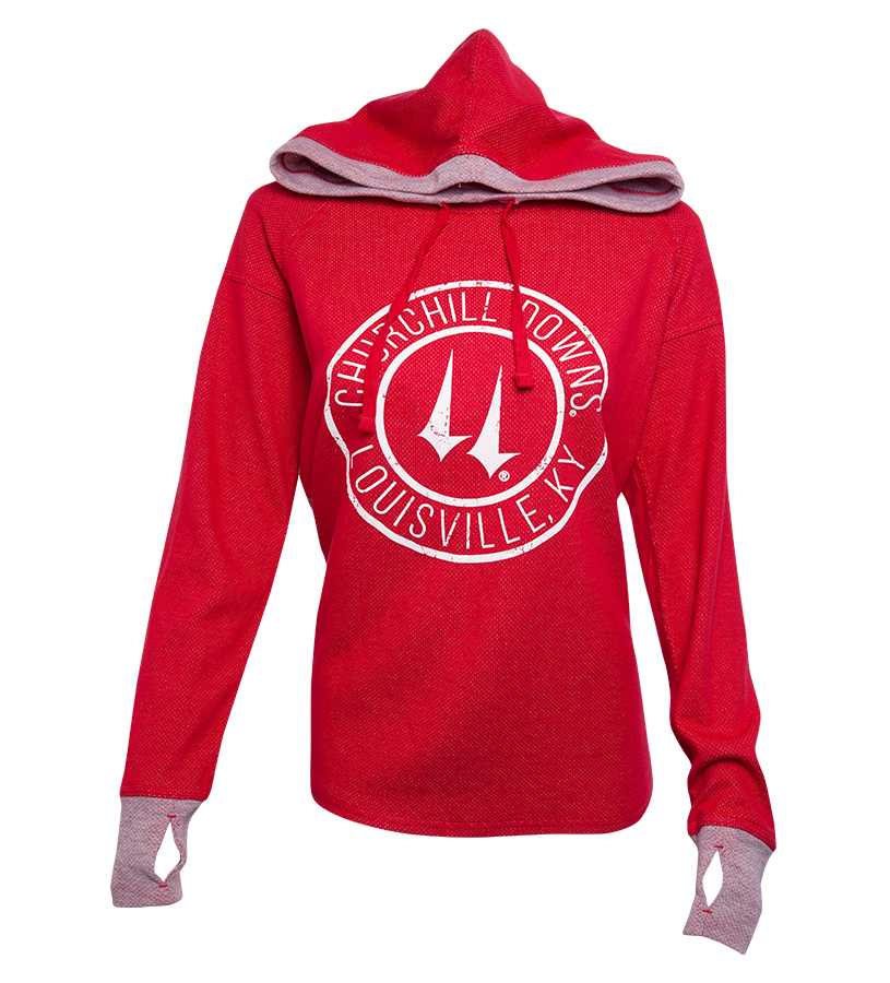Churchill Downs Logo Cool Down Hoodie,S40ROX-F17001