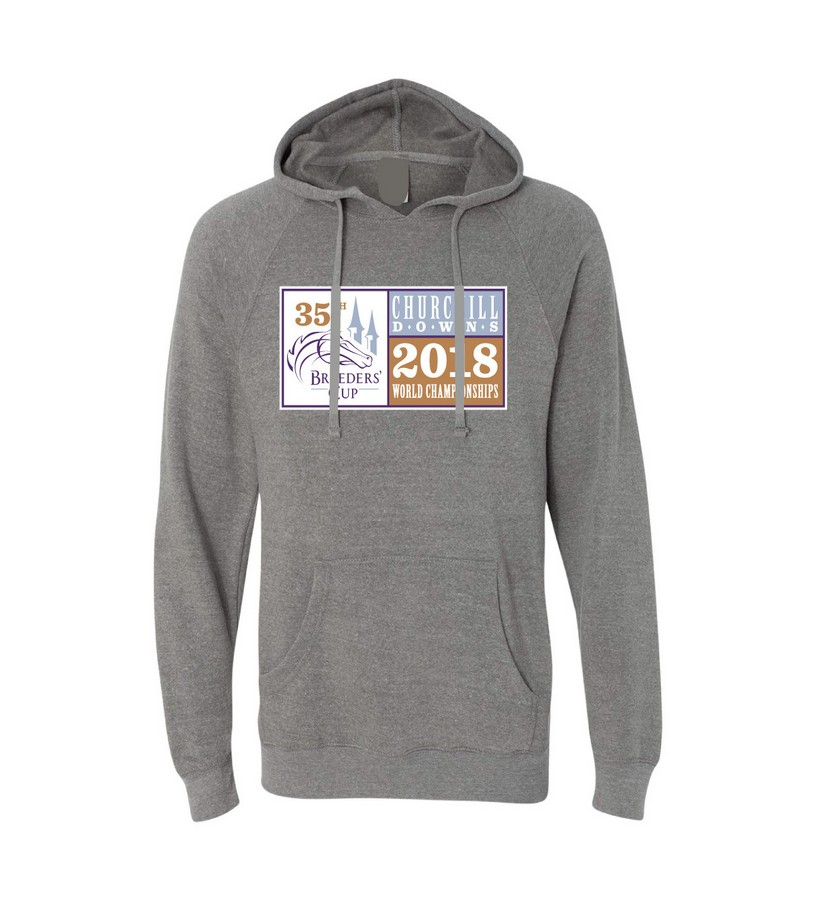Breeders' Cup Event Logo Heathered Hoodie,BC9616